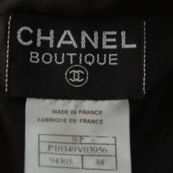 Chanel Black Wool Paneled Sleeveless Maxi Dress M