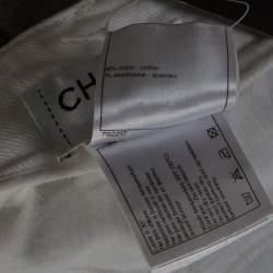 بنطلون جينز شانيل أبيض مورد قصة مجسمة L