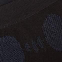 تنورة شانيل قطن مخلوط  أسود وأزرق جاكار مقاس كبير (لارج)