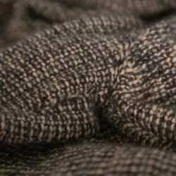 Chanel Vintage Brown Tweed Braided Trim Tie Neck Coat L