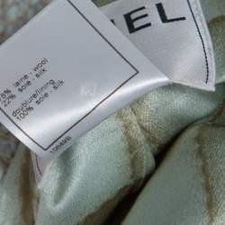 Chanel Vintage Mint Blue Tweed Open Front Coat XL