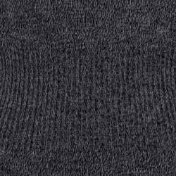 فستان شانيل أكمام طويلة خصر مضلع تريكو صوف أسود S