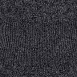 Chanel Black Wool Knit Ribbed Waist Long Sleeve Dress S