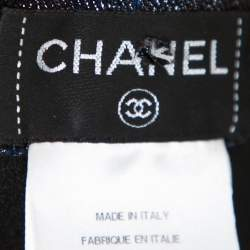Chanel Iridescent Metallic Blue Stretch Jeggings S