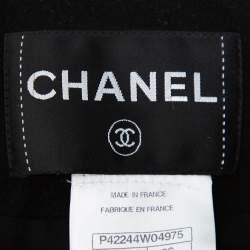 Chanel Green & Black Tweed Double Layer Jacket S