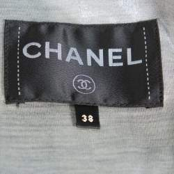Chanel Black & Silver Boucle Double Breasted Jacket M