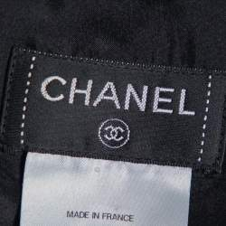 Chanel Black Wool Beads Embellished Mini Skirt M