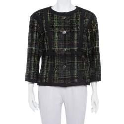 Chanel Multicolor Tweed Button Front Jacket L