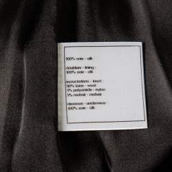 Chanel Black Silk Short Skirt S