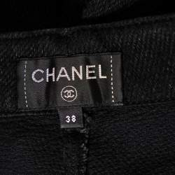 Chanel Black Denim Flared Jeans M