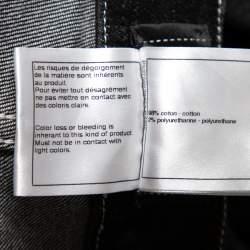 Chanel Black Denim Crochet Hem Detail Fitted Jeans M