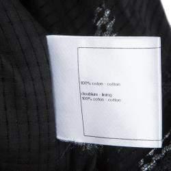 Chanel Black Cap Sleeve Textured Cotton Maxi Dress S