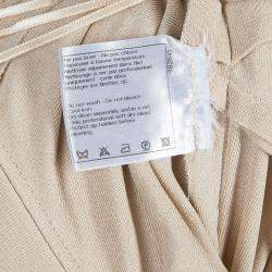 Chanel Beige Knit Petal Sleeve Ruffle Detail Dress S