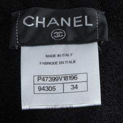 Chanel Black Wool Sleeveless Dress S