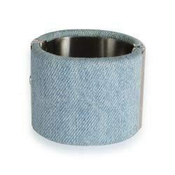 Chanel Blue Denim CC Cuff Bracelet