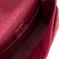 Chanel Burgundy Quilted Caviar Nubuck Reissue 2.55 Classic 226 Flap Bag