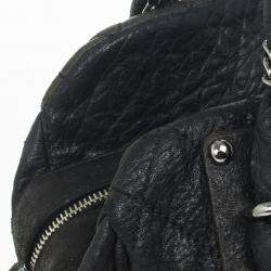 Chanel Black Quilted Distressed Leather Lady Braid Bowler Bag