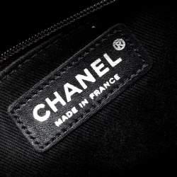 حقيبة شانيل كاميرا إن ذا بزنس جلد أسود لامع