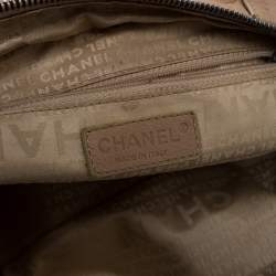 Chanel Beige Caviar Leather Square Stitch Satchel