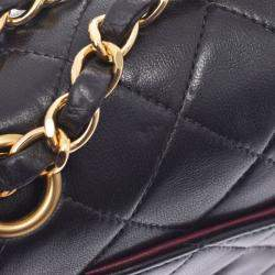 Chanel Black Quilted Leather Classic Double Flap Shoulder Bag