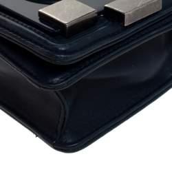 Chanel Blue Leather Boy Brick Flap Crossbody Bag