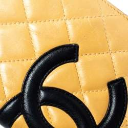 Chanel Cream Leather Cambon Ligne Bifold Wallet
