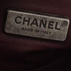 Chanel Brown Leather and Goat Hair Small Boy Flap Bag