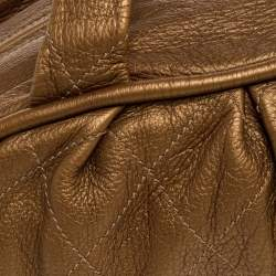 Chanel Golden Brown Quilted Leather Bowler Bag