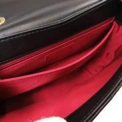 Chanel Black Quilted Leather Vintage Shoulder Bag