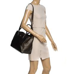 Chanel Metallic Brown Leather XL Cerf Executive Shopper Tote