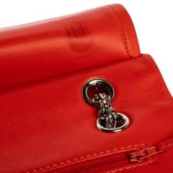 Chanel Orange Quilted Patent Leather Reissue 2.55 Classic 227 Flap Bag
