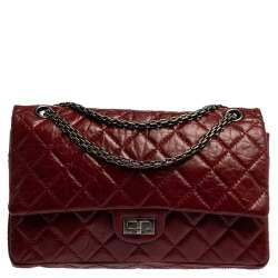 Chanel Red Quilted Leather Reissue 2.55 Classic 226 Flap Bag