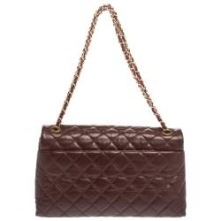 Chanel Burgundy Quilted Leather CC Mademoiselle Flap Bag