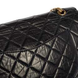Chanel Navy Blue Quilted Leather Jumbo Reissue 2.55 Classic 227 Flap Bag