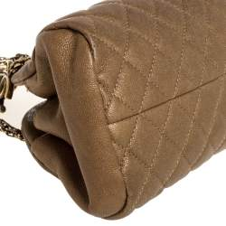 Chanel Golden Brown Quilted Leather Small Just Mademoiselle Bowler Bag