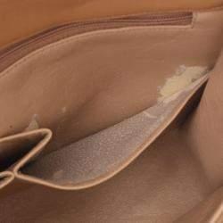 Chanel Beige Quilted Lambskin Leather Flap Shoulder Bag