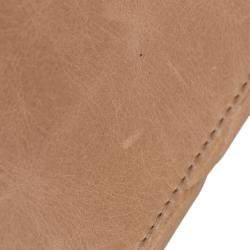 Chanel Beige Calf Leather CC Quilted Shoulder Bag