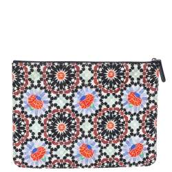 Chanel Multicolored Printed Quilted Fabric Dubai O Case Clutch