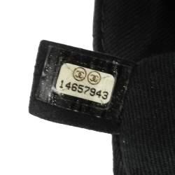 حقيبة شانيل جلد أسود مبطن كلاسيك بقلاب