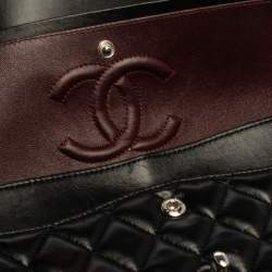 Chanel Black Quilted Leather Medium Classic Double Flap Bag