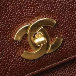 Chanel Brown Caviar Leather Vintage Bag