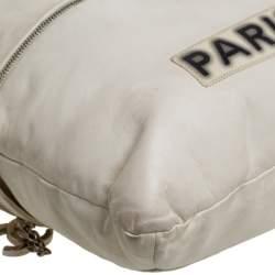Chanel Cream Leather 2009 London Paris Chain Tote