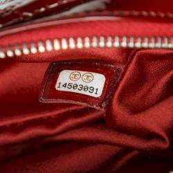 Chanel Red Patent Leather Classic Mini Square Flap Bag