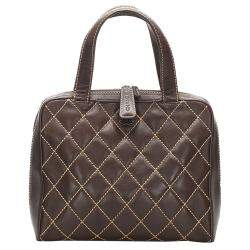 Chanel Black quilted leather Surpique Tote Bag