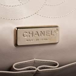 حقيبة شانيل جامبو كلاسيك جلد ثعبان شامبانيا قلاب مزدوج