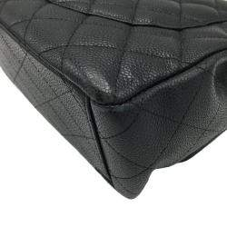 Chanel Black Quilted Caviar Leather Classic Flap Bag