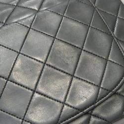 حقيبة شانيل فينتدج جلد أسود