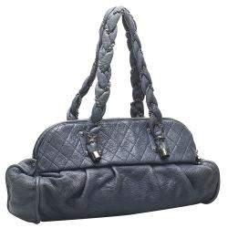 Chanel Blue Lambskin Leather Lady Braid Bag