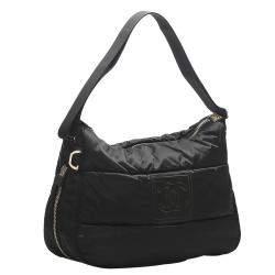 Chanel Black Nylon Vintage CC Bag