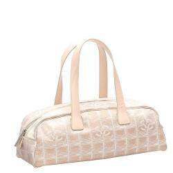 Chanel Cream Nylon Travel Line Boston Bag
